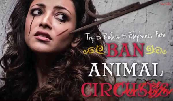 kajal aggarwal interview to Peta India against Circus Cruelty