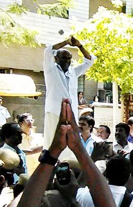 Rajinikanth met fans on his Wedding Day