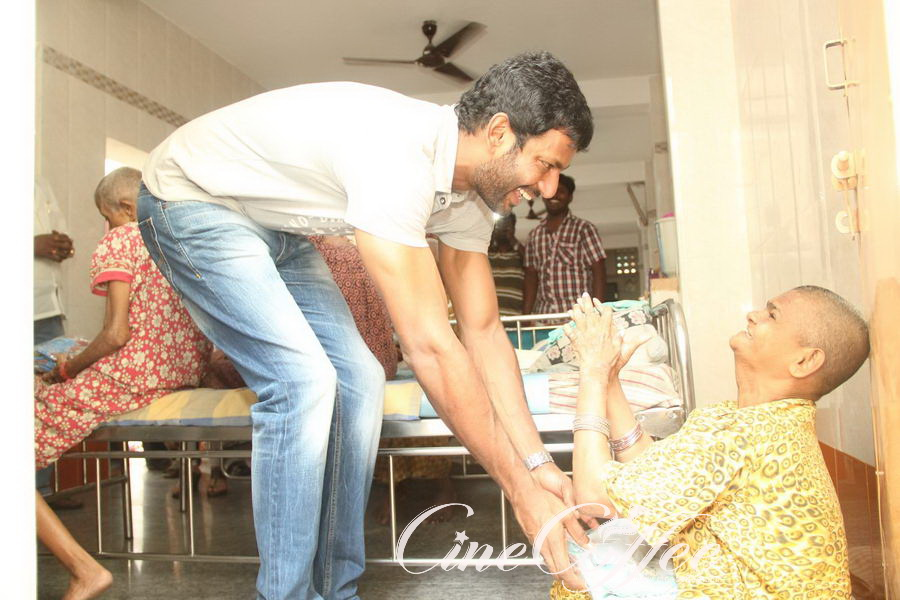 Actor Vishal and his sister Aishwarya on the occcasion of Mother's day event
