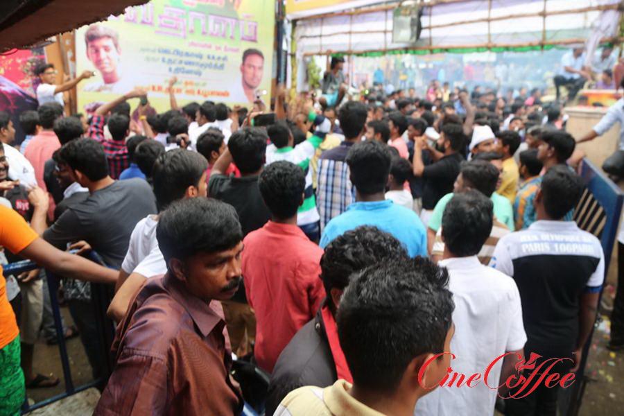 Ajith Fans Celebrating Vedhalam Movie Release Stills