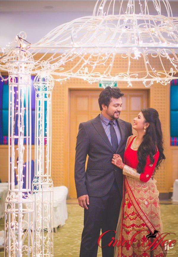 Bobby Simha  Reshmi Menon wedding Reception