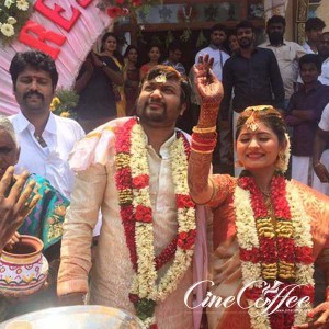 Bobby Simha Reshmi Menon Wedding Stills