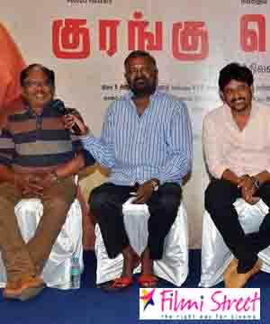 Actor  Vidharth emotional speech at Kurangu Bommai Thanks Giving meet