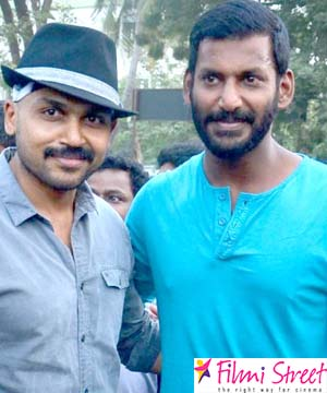 Actor Vishal and Karthi