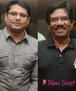 Bharathiraja with is son Manoj in Padaiveeran