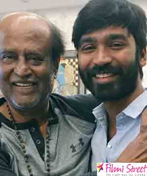 Dhanush and Rajinikanth