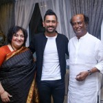 MS Dhoni latest photos with Super Star Rajinikanth