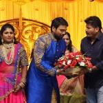 Fefsi Vijayan son wedding reception photos