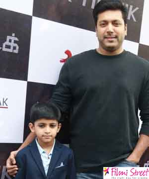 Jayam ravi with his son