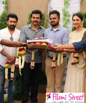 Karthi 17 starts with a formal launch in Chennai