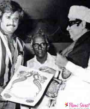 MGR with Rajinikanth