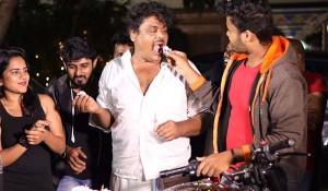 Mansoor Ali Khan birthday celebrations at Kadaman Paarai Movie Spot