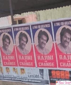 rajini for change posters