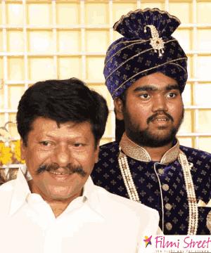 Raj kiran with his son