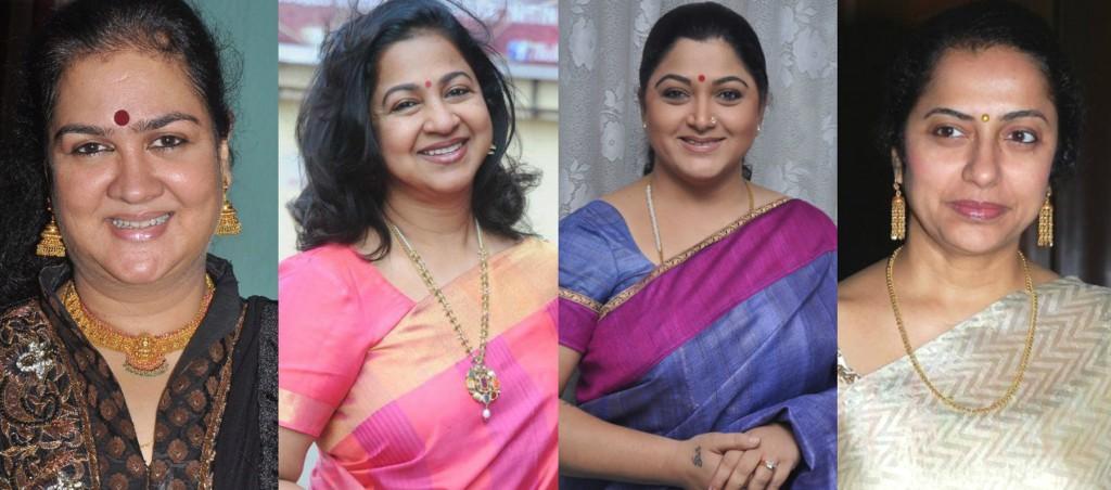 Radhika Urvashini Suhasini Kushboo