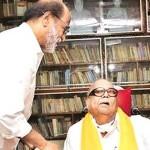 கலைஞரை சந்தித்துவிட்டு கட்சி நிர்வாகிகளுடன் ரஜினி மீட்டிங்