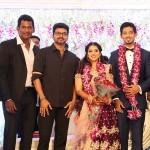 Vishal Sister Aishwarya Wedding Reception Photos