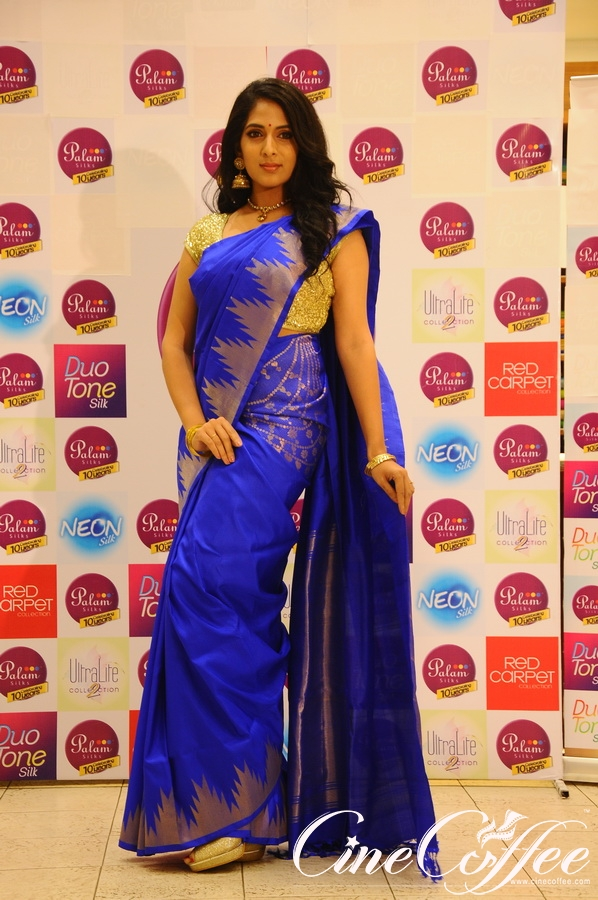 Actress SAKSHI AGARWAL unveils Palam Silks Deepavali Collection