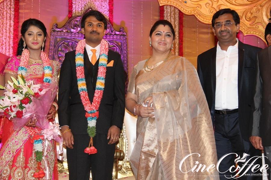 Raj Tv MD Daughter Marriage Reception Photos