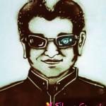 ரஜினியின் வாழ்க்கையை மணல் ஓவியமாக வரைந்த ரசிகர் (வீடியோ)